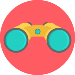 Binoculars logo for Opportunity Scan Services.