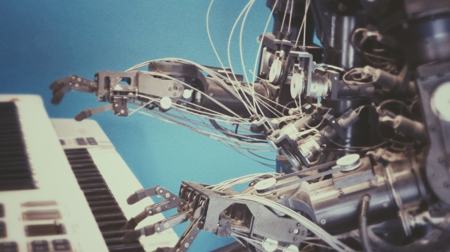 Artificial Intelligence playing piano.
