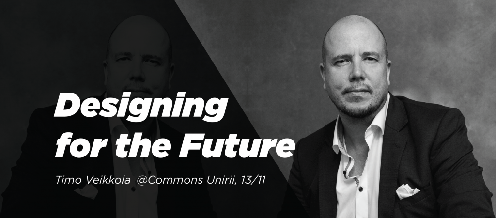 Cover for the Meetup - Designing for The Future with Timo Mashiyi - Veikkola