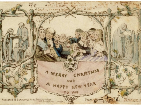 Sir Henry Cole's first Christmas Card ever