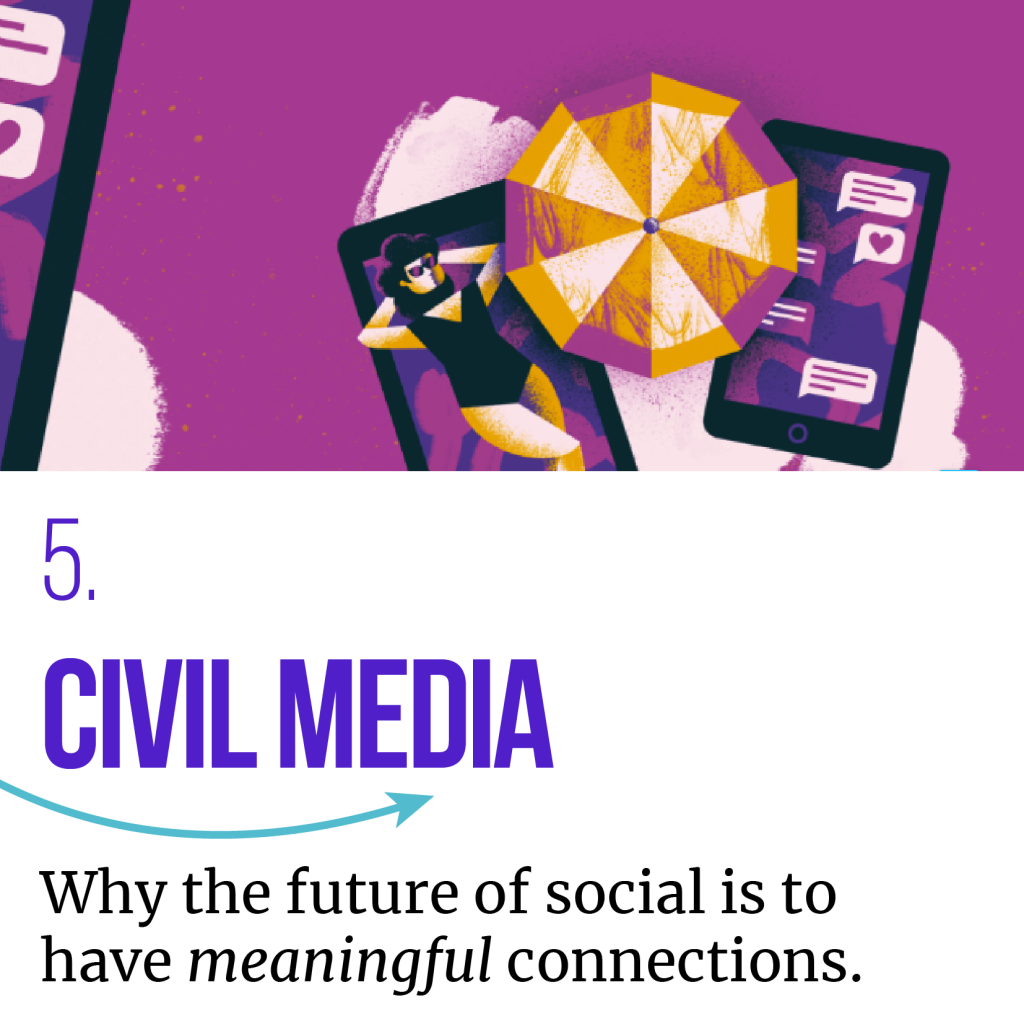 CIVIL MEDIA - one of the consumer trends predicted for 2020