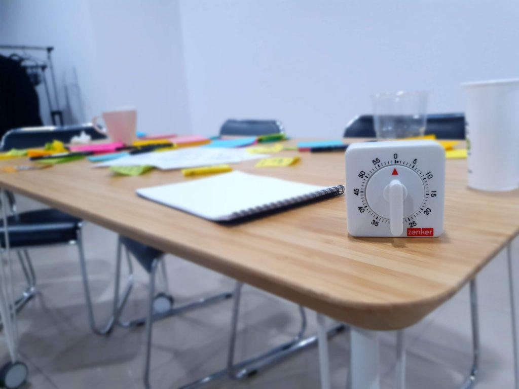 timer used for Design Thinking workshop