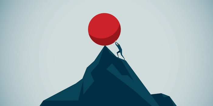sisyphus simbolyzing crisis management
